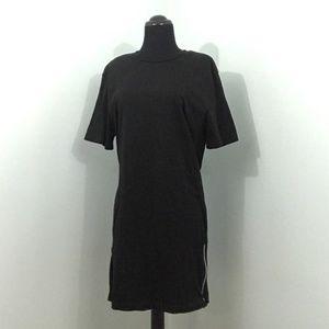 H&M Divided Black Crew Neck Sporty T Shirt Dress